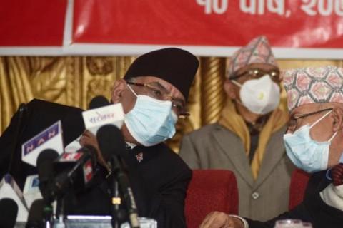 प्रधानमन्त्री ओलीविरुद्ध प्रचण्ड–नेपाल समूहले अविश्वास प्रस्ताव दर्ता गर्दै